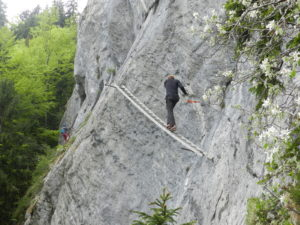 Bad Goisern ferrata žebřík